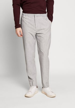 COOL MARL ELASTICATED TROUSER - Trousers - grey