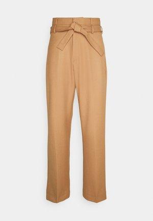 CALEB TIE UP TROUSERS - Trousers - brown sugar