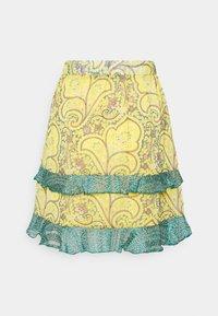 Esqualo - SKIRT SHORT PAISLEY LAYERS - A-line skirt - yellow - 1