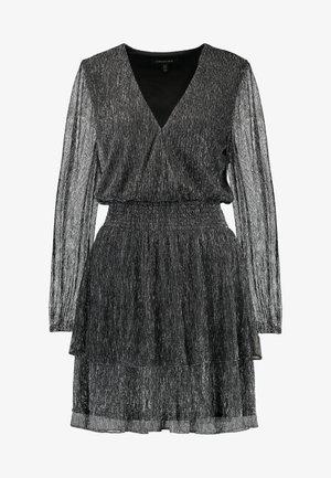 KATIE PLISSE WRAP - Cocktail dress / Party dress - metallic grey