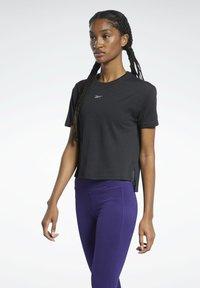Reebok - T-shirt con stampa - black - 0