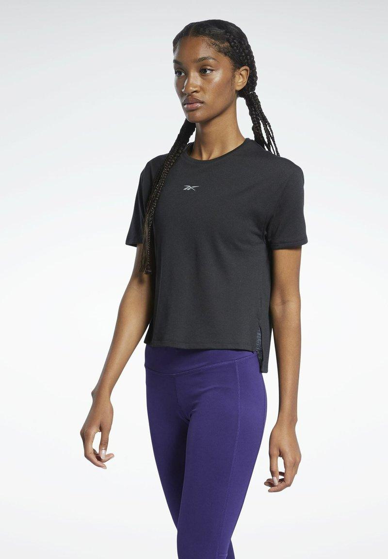 Reebok - T-shirt con stampa - black