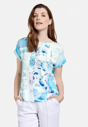 Blouse - blue curacao gemustert