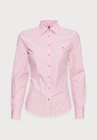 Tommy Hilfiger - REGULAR SHIRT - Button-down blouse - pink - 3
