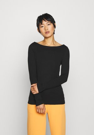 BOATNECK - Long sleeved top - true black