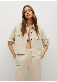 Mango - Button-down blouse - mittelbraun - 0