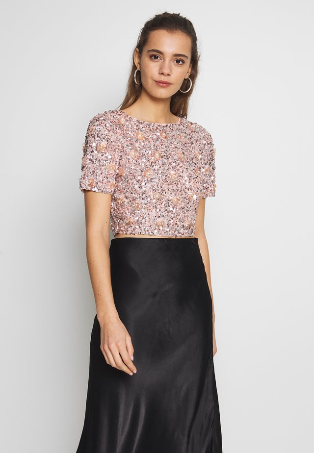 LETTY FLOWER - Blusa - nude