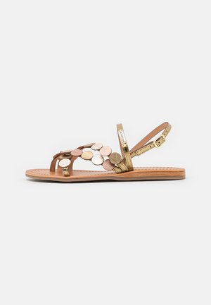 HOLO - T-bar sandals - bronze/multicolor