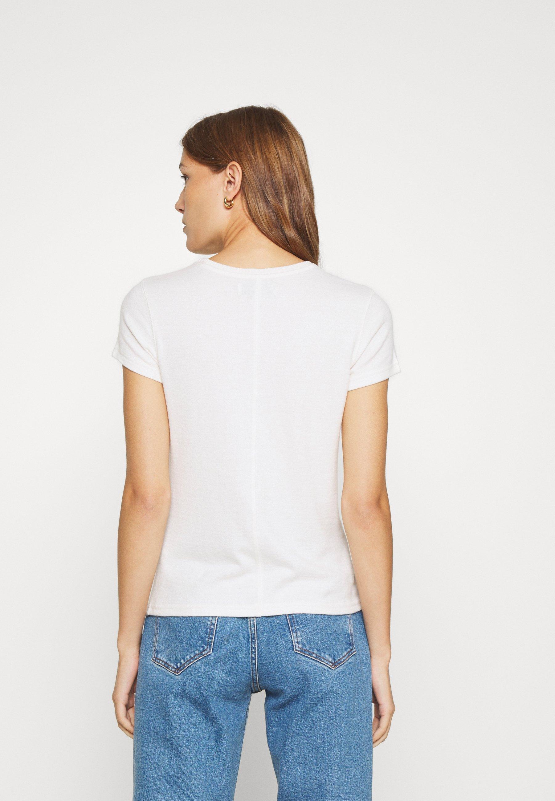 Abercrombie & Fitch LONG LIFE LOGO - T-shirt con stampa - white - Abbigliamento da donna Sbrigati