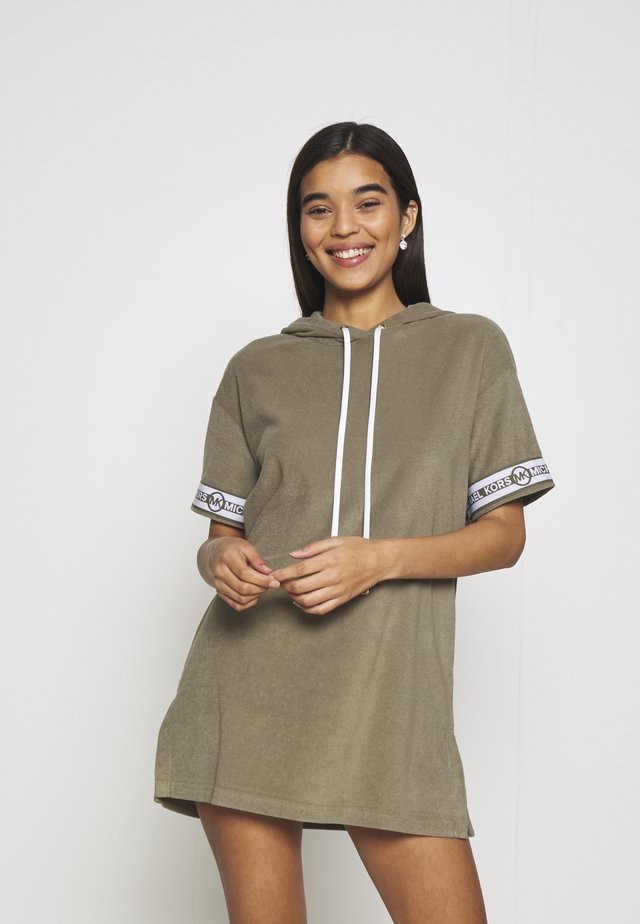 SOLID HOOD COVER UP DRESS - Strandaccessoire - army green