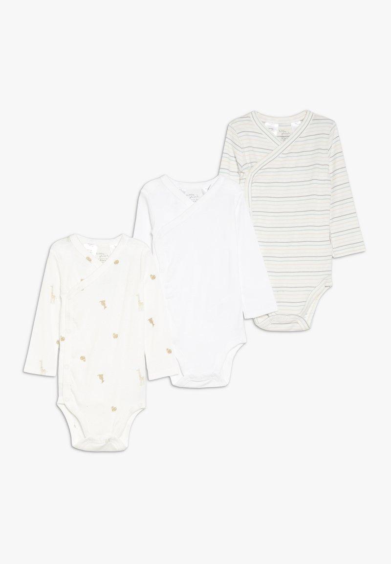 Carter's - NEUT SIDE SNAP BABY 3 PACK - Body - white