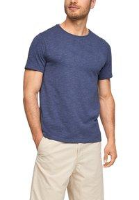 s.Oliver - T-shirt basic - blue melange - 5