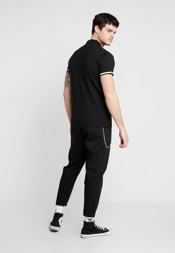Redefined Rebel LEE CROPPED PANTS - Spodnie materiałowe - black/czarny Odzież Męska KMAA
