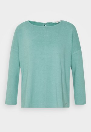 STRUCTURED TEE - Long sleeved top - mineral stone blue