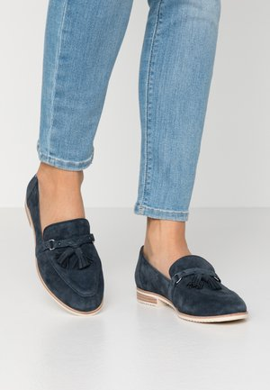 Loafers - navy suede