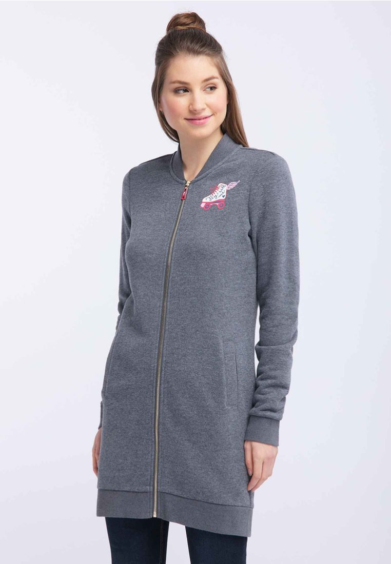 Super Women's Clothing myMo Zip-up hoodie grey quVOxwdbY