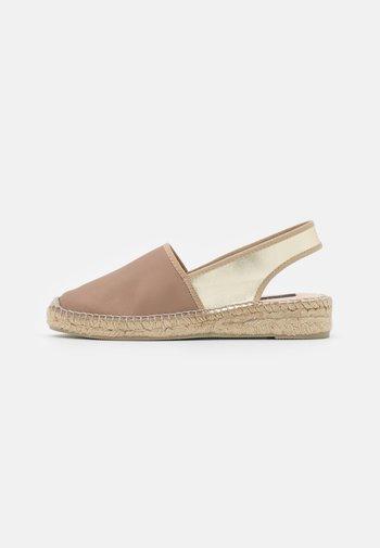 Platform sandals - pharos taupe/oro platino