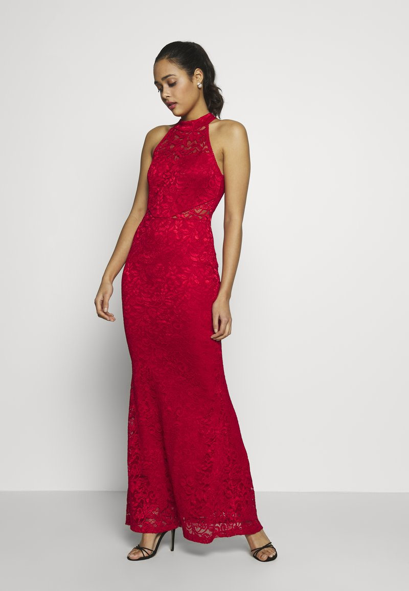 WAL G. - HALTER NECK MAXI DRESS - Iltapuku - red