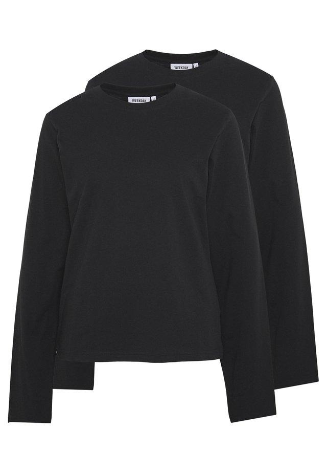ALANIS 2 PACK - Langærmede T-shirts - black