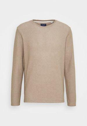 JORKILI CREW NECK - Svetr - cloud dancer/crockery