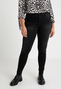 JUNAROSE - by VERO MODA - JRFIVE SHAPE - Jeans Skinny Fit - dark grey denim - 0