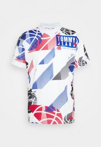 Tommy Jeans - BASKETBALL GRAPHIC TEE - Print T-shirt - white/multi - 0