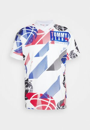 BASKETBALL GRAPHIC TEE - Triko s potiskem - white/multi