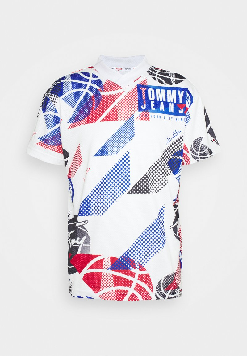 Tommy Jeans - BASKETBALL GRAPHIC TEE - Print T-shirt - white/multi