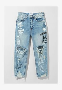 Bershka - Jean boyfriend - light blue - 4
