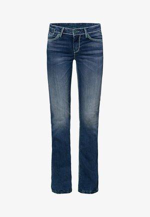 MIT KONTRASTNÄHTEN UND BOOT CUT CO:LE - Bootcut jeans - medium blue washed