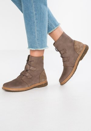 ANGKOR - Lace-up ankle boots - plume