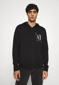 Armani Exchange - Zip-up hoodie - black - 0