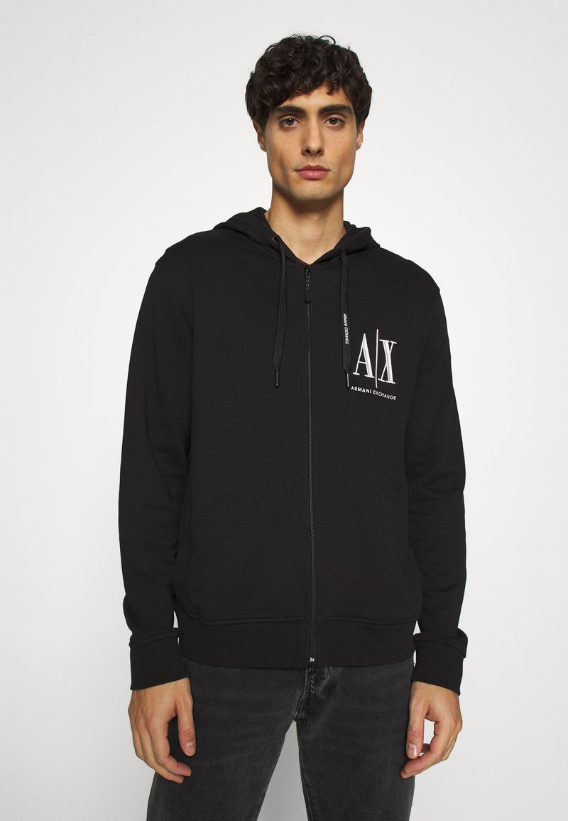 Armani Exchange - Zip-up hoodie - black