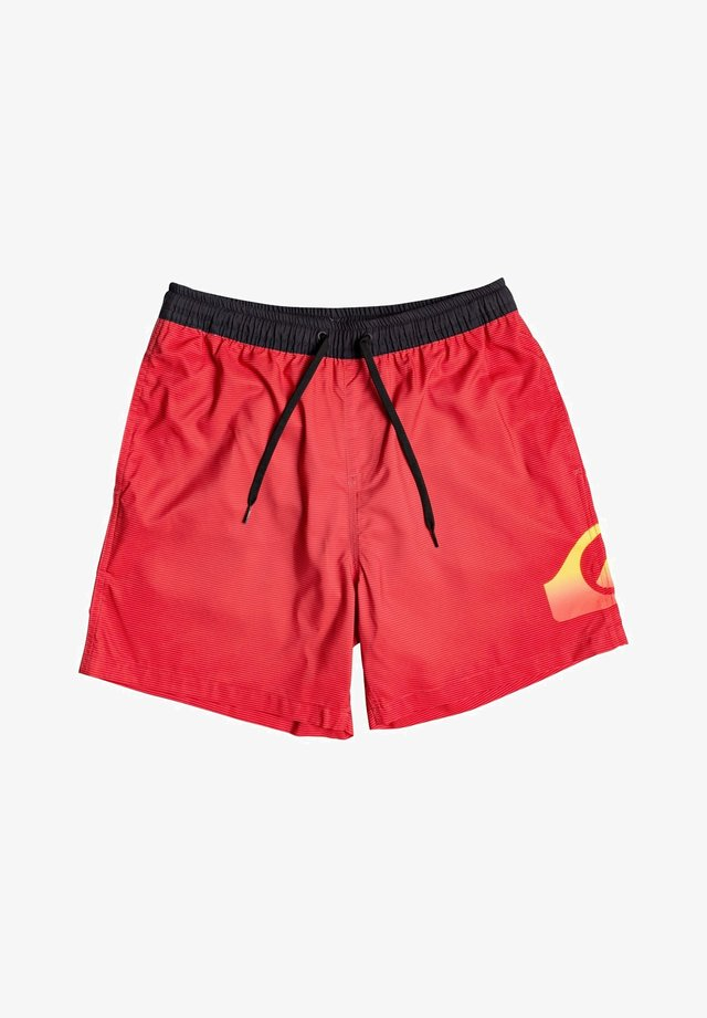 DREDGE VOLLEY - Swimming shorts - high risk red