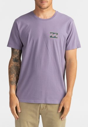CRAYON WAVE - Print T-shirt - purple haze