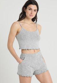 Even&Odd - Pyjamaser - mottled light grey - 0