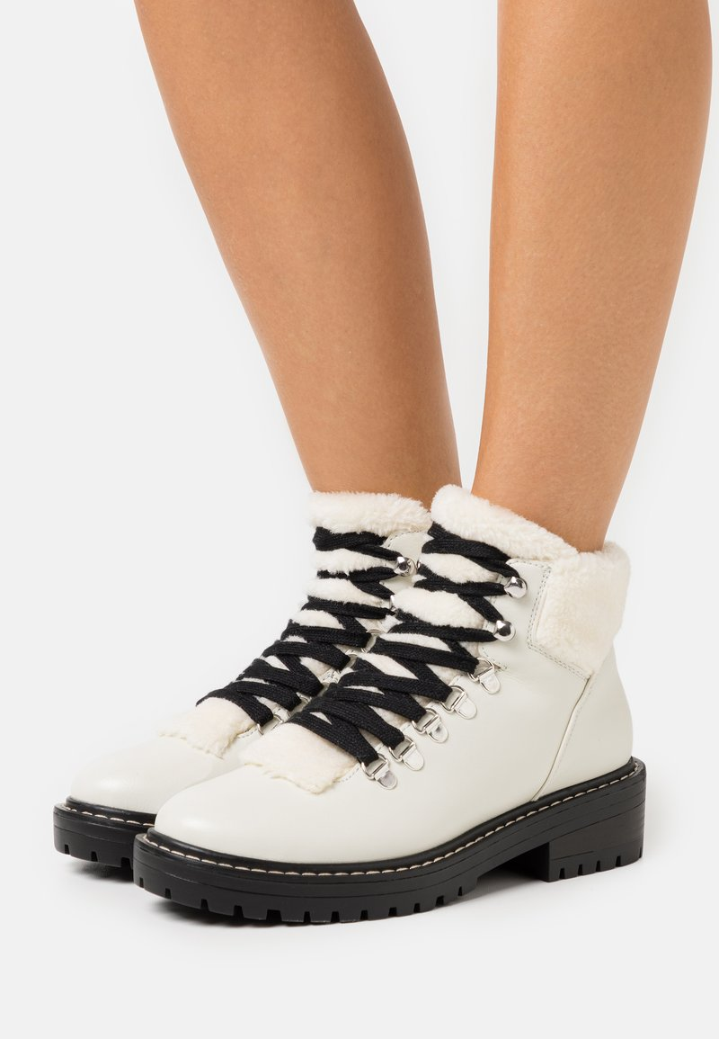 ONLY SHOES - ONLBOLD LACE UP - Ankle boots - offwhite