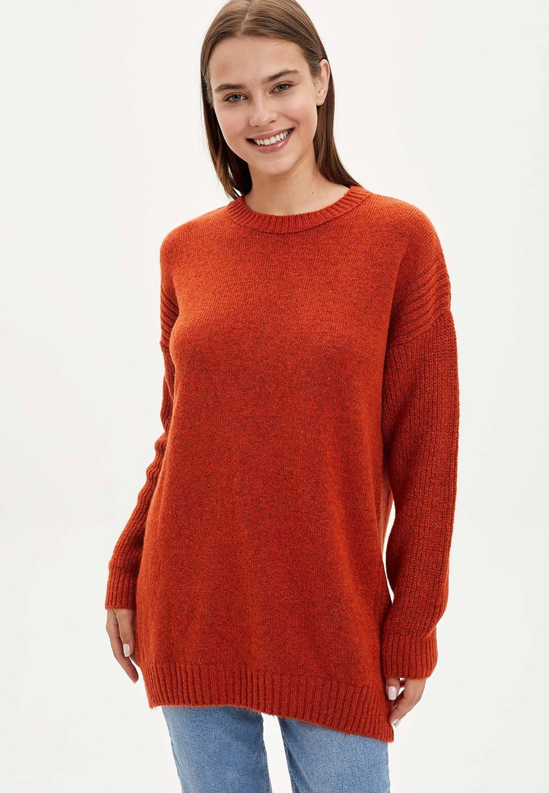 DeFacto - TUNIC - Long sleeved top - orange