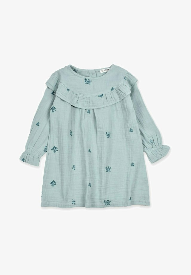 EMBROIDERED RUFFLED - Denní šaty - mint green