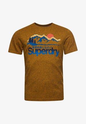 Print T-shirt - utah gold grit