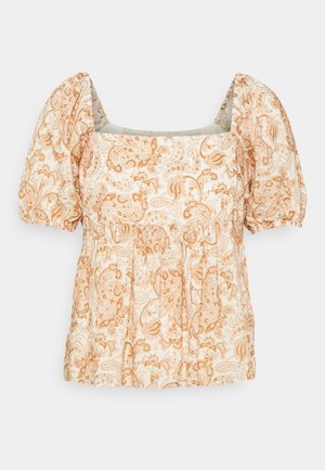 EVIE BABY DOLL SQUARE NECK BLOUSE - T-shirts med print - valencia