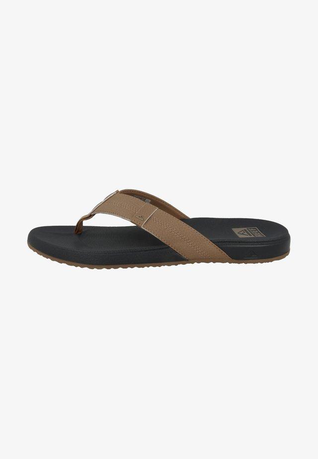 Pantoffels - khaki grey