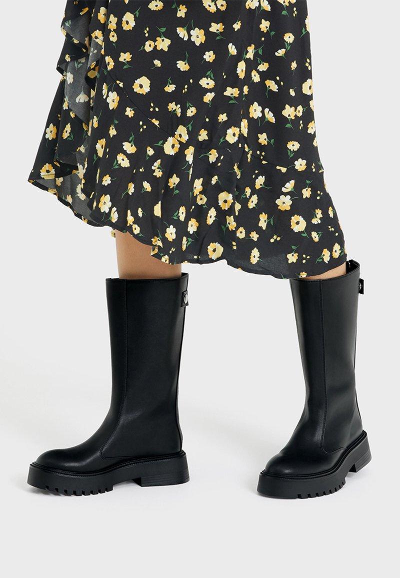 Bershka - Wedge boots - black