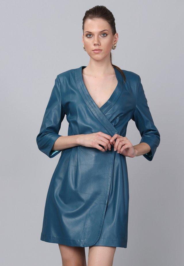 Korte jurk - oil blue