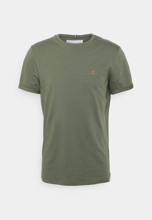 NØRREGAARD - T-shirt - bas - thyme green/orange