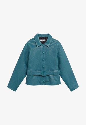 BOOK-I - Leather jacket - grün