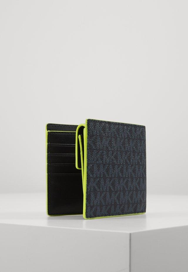 GREYSON BILLFOLD COIN POCKET - Peněženka - black /neon yel