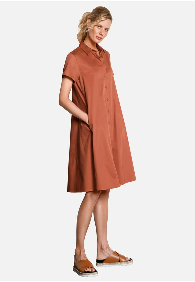 Shirt dress - cognac