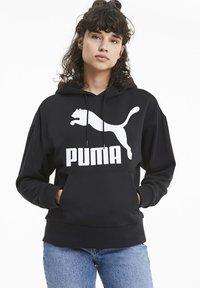 Puma - KVINDE - Felpa con cappuccio - black - 0