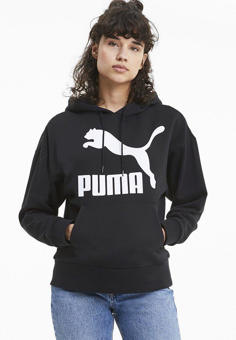 Puma - KVINDE - Felpa con cappuccio - black
